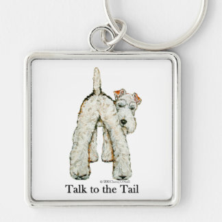 Wire Fox Terrier Tail Key Chains