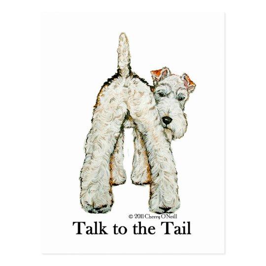 Wire Fox Terrier Tail Postcard