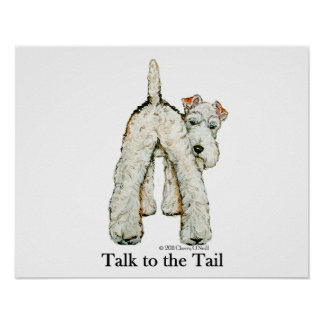Wire Fox Terrier Tail Poster