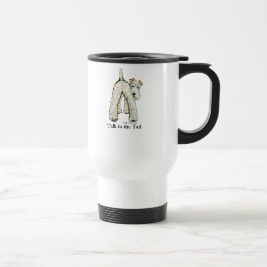 Wire Fox Terrier Tail Travel Mug