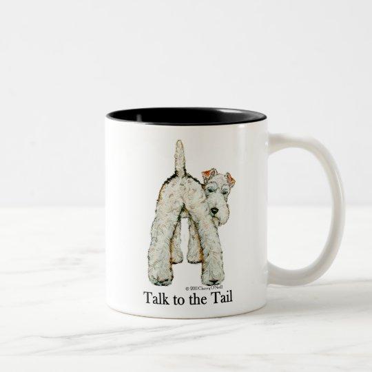 Wire Fox Terrier Tail Two-Tone Coffee Mug