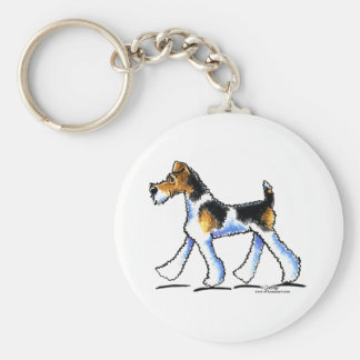 Wire Fox Terrier Trot Keychain