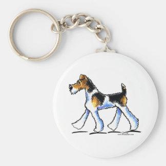 Wire Fox Terrier Trot Keychain