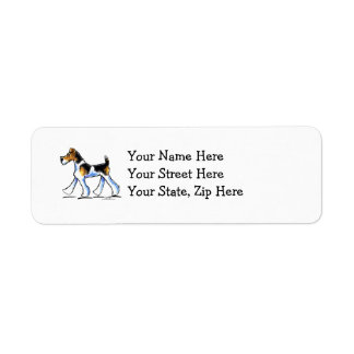 Wire Fox Terrier Trot Label
