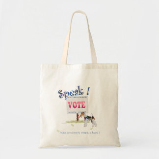 Wire Fox Terrier Voting Voice Tote Bag