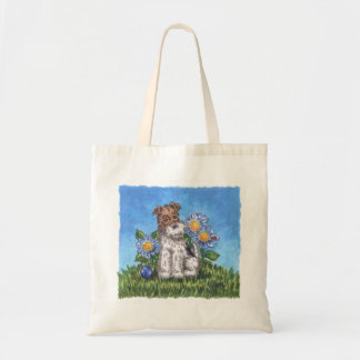 Wire fox with daisies tote