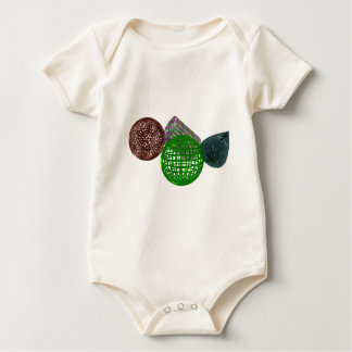 Wire Frame Shapes Baby Bodysuit