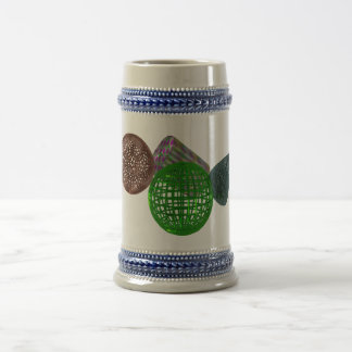 Wire Frame Shapes Beer Stein