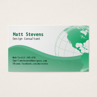 Wire Green Globe Americas Business Card