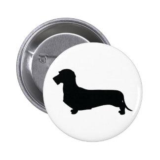 Wire Hair Dachshund Button Pin
