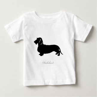 Wire Hair Dachshund silhouette v3 Baby T-Shirt