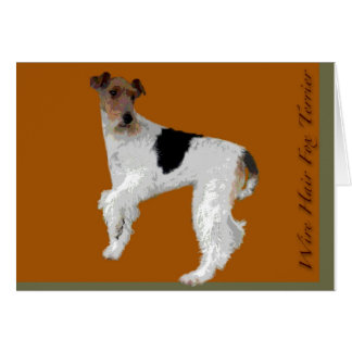 Wire Hair Fox Terrier Card