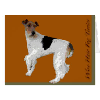 Wire Hair Fox Terrier Card