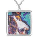 Wire Hair Fox Terrier Pop Art Necklace