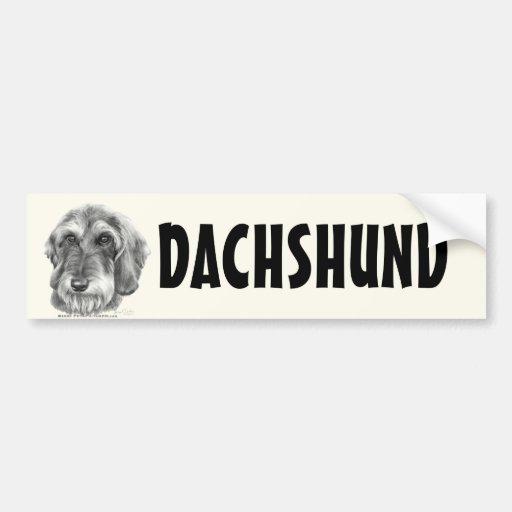 Wire-Haired Dachshund Bumper Sticker