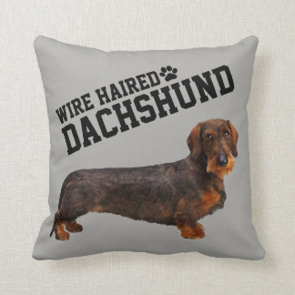 Wire Haired Dachshund Illustrated Pillow