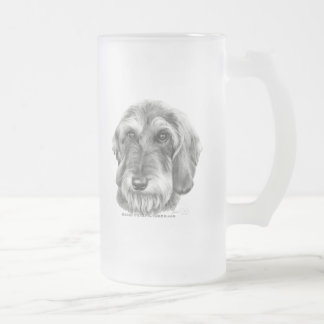 Wire-Haired Dachshund 16 Oz Frosted Glass Beer Mug