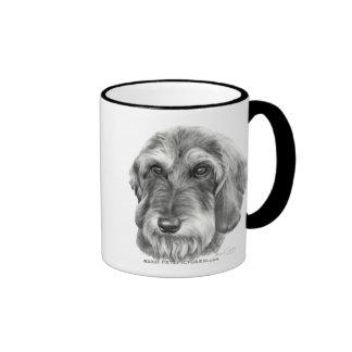 Wire-Haired Dachshund Ringer Coffee Mug