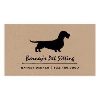 Wire Haired Dachshund Silhouette Double-Sided Standard Business Cards (Pack Of 100)