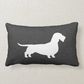 Wire Haired Dachshund Silhouette Lumbar Pillow