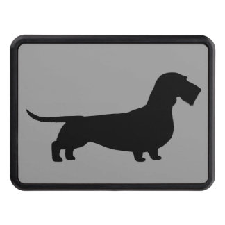 Wire Haired Dachshund Silhouette Hitch Covers