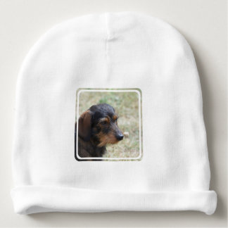 Wire Haired Daschund Dog Baby Beanie