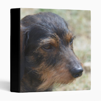 Wire Haired Daschund Dog Binder
