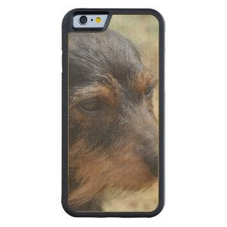 Wire Haired Daschund Dog Carved® Maple iPhone 6 Bumper