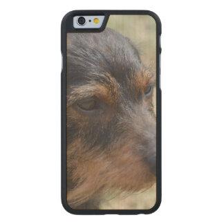 Wire Haired Daschund Dog Carved® Maple iPhone 6 Slim Case