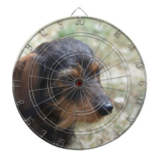 Wire Haired Daschund Dog Dart Board