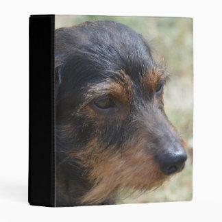 Wire Haired Daschund Dog Mini Binder