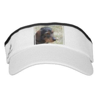 Wire Haired Daschund Dog Visor