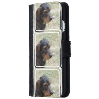 Wire Haired Daschund Dog Wallet Phone Case For iPhone 6/6s