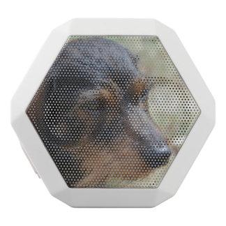 Wire Haired Daschund Dog White Bluetooth Speaker