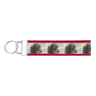Wire Haired Daschund Dog Wrist Keychain