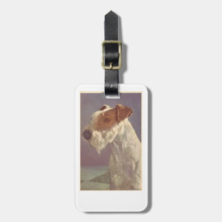 Wire Haired Fox Terrier Dog Luggage Tag