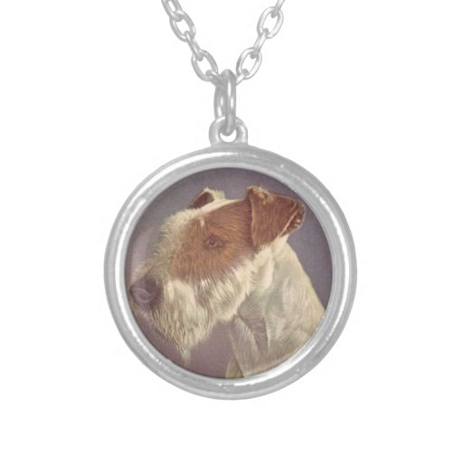 Wire Haired Fox Terrier Dog Necklace