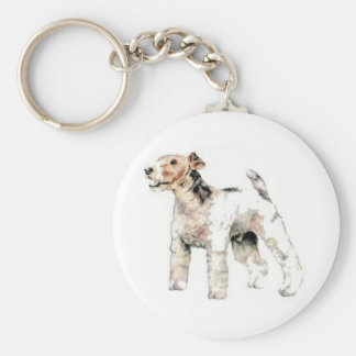 Wire Haired Fox Terrier Keychain