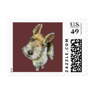 Wire-haired-fox-terrier Postage Stamp