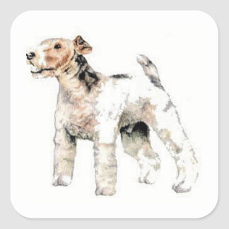 Wire Haired Fox Terrier Stickers