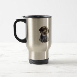 Wire Haired Pointer - head portrait 15 Oz Stainless Steel Travel Mug