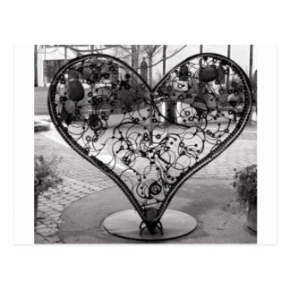 Wire Heart Post Card