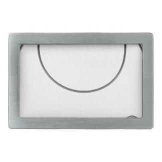 Wire leader vector illustration clip-art fishing rectangular belt buckle