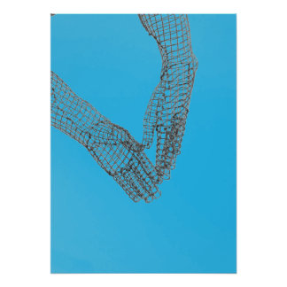 Wire Mesh Hand Sculpture Poster/Print Poster