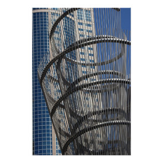 Wire Sculpture and Building, Seattle Poster