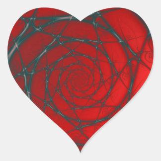 Wire Spiral on Red Heart Sticker