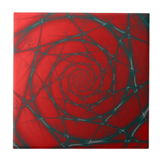 Wire Spiral on Red tile