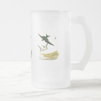 Wire-tailed Swallow Frosted Glass Beer Mug