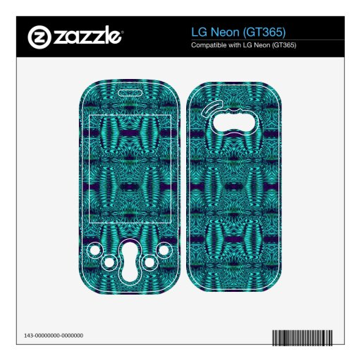 Wire Teal Modern Pattern Decals For LG Neon