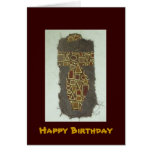 Wire Woman Ethnic Happy Birthday Cards